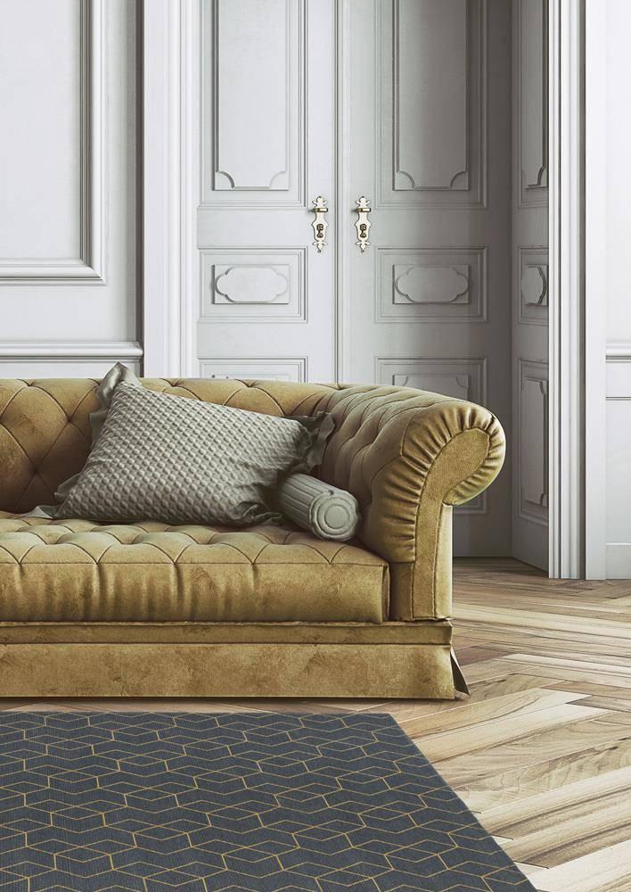 Dywan Carpet Decor Cube Golden 160x230