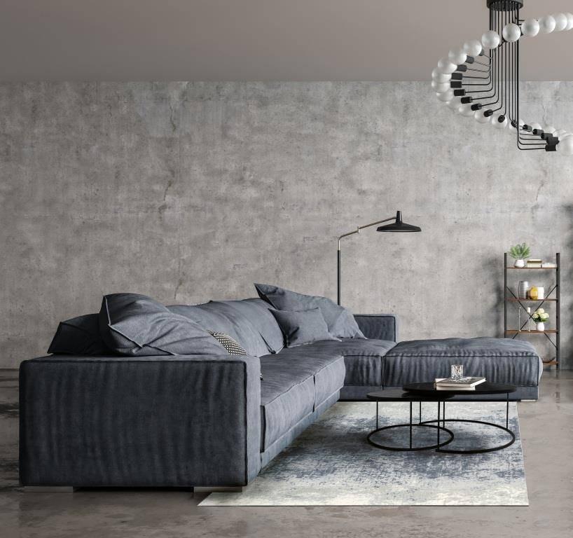 Dywan Carpet Decor Illusion Blue Gray