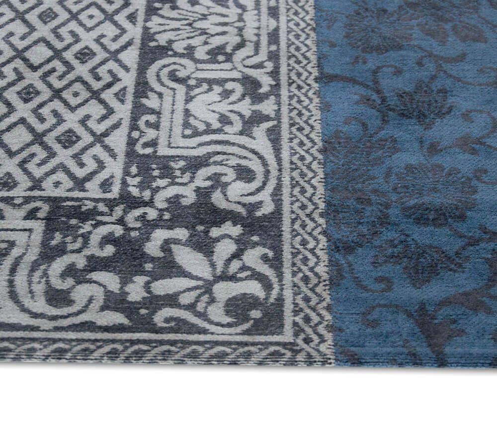 Dywan Louis de Poortere Vintage Patchwork Multi Blue Denim 8108